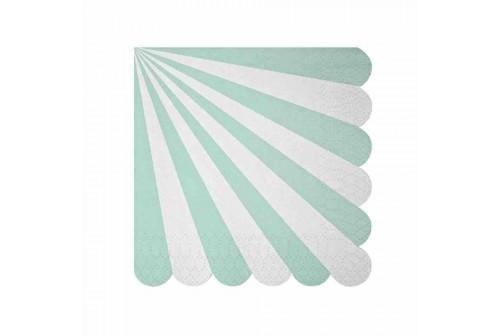 Serviettes mix and match aqua