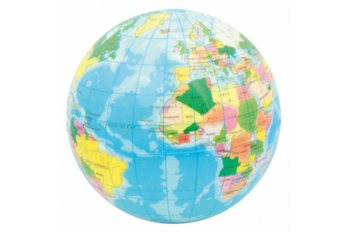 Balle globe terrestre