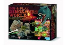 Kit de fouille et jeu thème dinosaures 4M