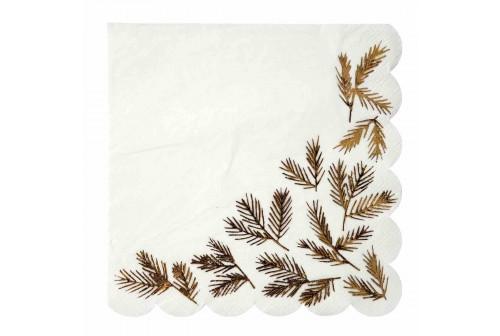 Serviettes Gold Pine
