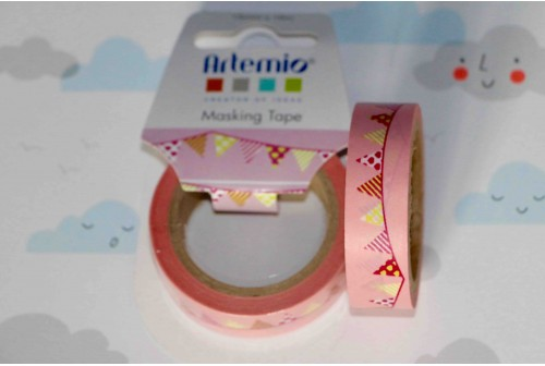 Masking tape fanion rose