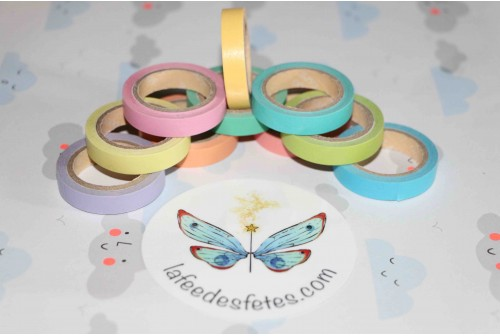 Masking tape slim Arc en ciel
