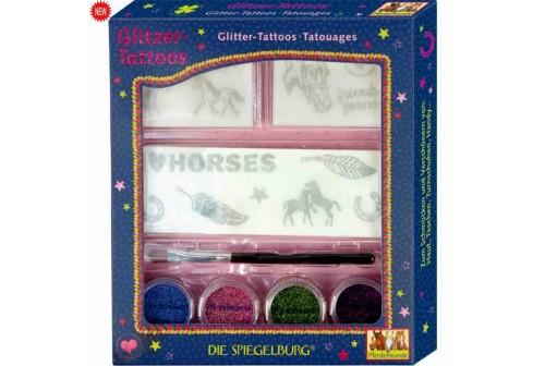 Tatouages pailletés Amis des chevaux
