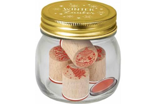 Set de tampons en bois Noël
