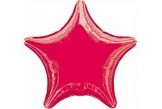 Ballon Mylar étoile rouge