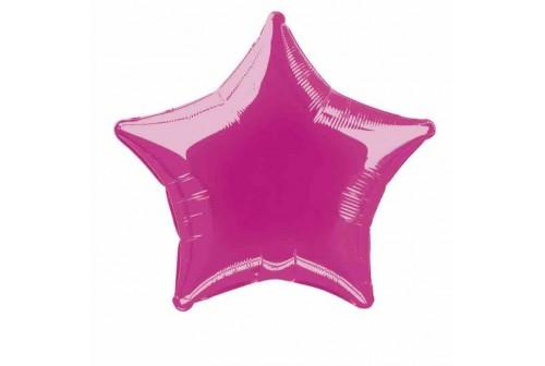Ballon Mylar étoile fuchsia