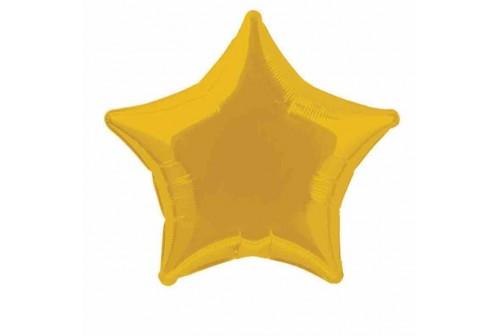 Ballon Mylar étoile doré