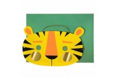 Carte anniversaire - masque de tigre