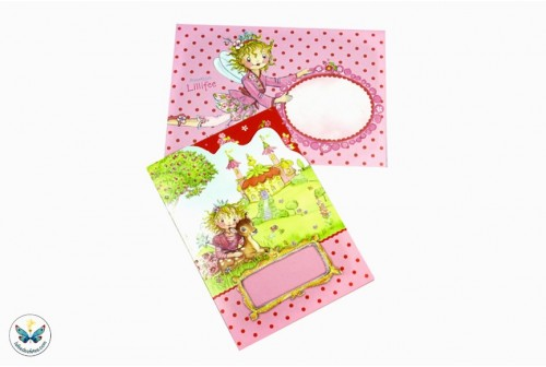 8 cartes d'invitation princesse Lillyfee