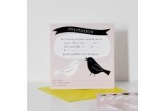 Invitation oiseau Chacha