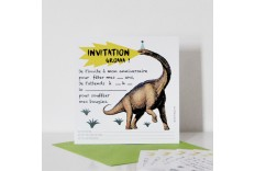 Invitation dinosaure - Chacha