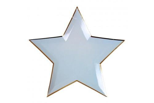 Assiettes étoiles de 8 couleurs