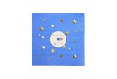 Serviettes multicolores étoiles dorées