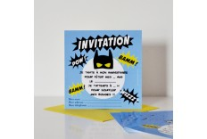 Invitation Super Héros - Chacha
