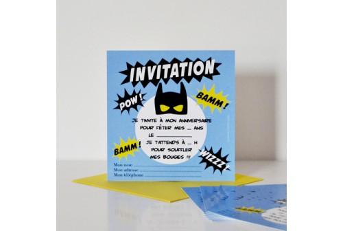 Invitation Super Héros - Chacha