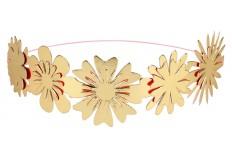 Couronne de fleurs or