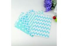 12 pochettes Bleues & blanches