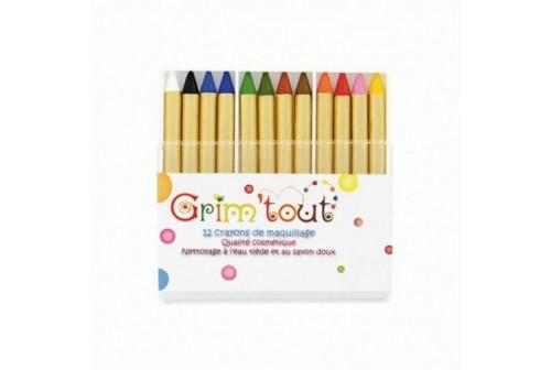 12 crayons de maquillage Grim'tout