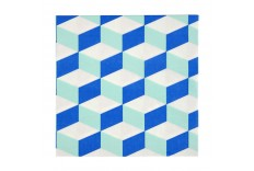 Serviettes cubiques bleu & menthe