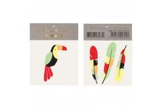 Tatouages Toucan et plumes