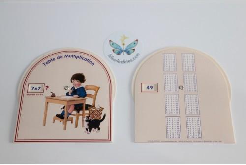 Disque table de multiplication garçons
