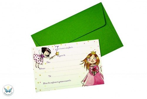 6 invitations princesses