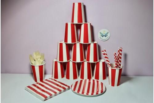 Kit anniversaire Rouge & blanc