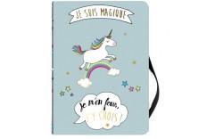 """Cahier Licorne """"Je suis magique"""""""