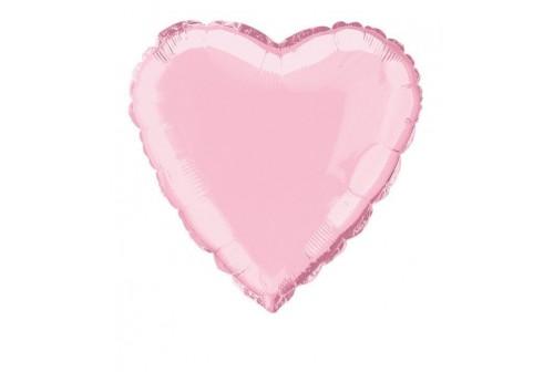 Ballon coeur Mylar rose