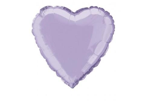 Ballon coeur Mylar lavende