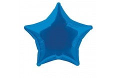 Ballon Mylar étoile bleu roi