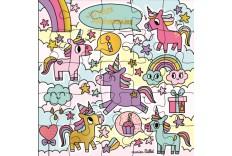 Carte Puzzle Licorne M. Billet