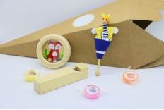 Cône surprise Kraft jouets en bois