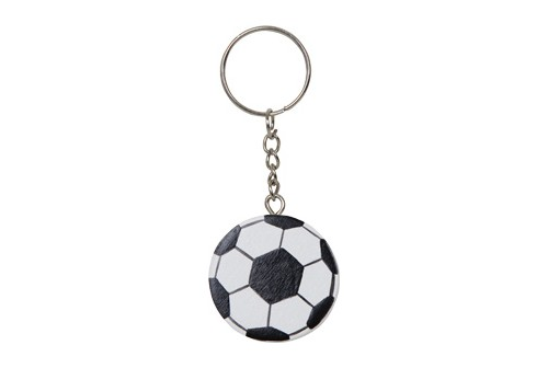 Porte-clé ballon de foot en bois