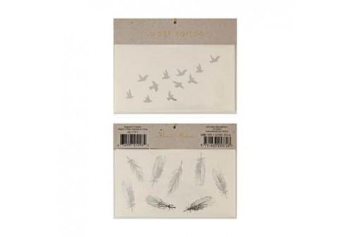 Tatouages oiseaux et plumes Meri Meri