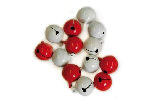10 Grelots rouges et blancs
