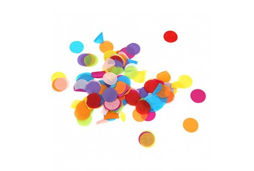 Confettis ronds multicolores