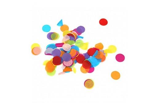Confettis ronds multicolores