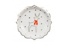 8 assiettes renne et étoiles