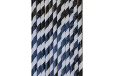 25 pailles de couleur blanche et noir