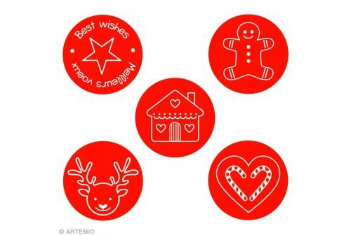 Boïte biscuits thème de Noël