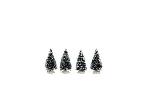 Set de 4 sapins miniatures