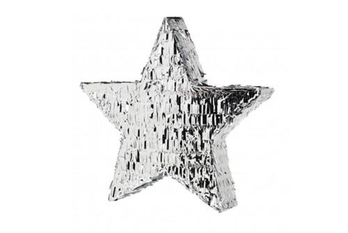 Pinata étoile mylar Argent
