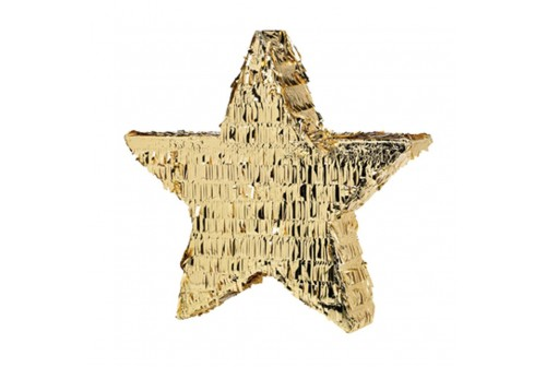 Pinata étoile mylar doré