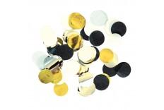Set de confetti or noir et argent