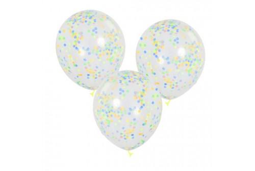 Ballon confetti pastels - Set de 3 ballons