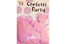 Confettis ronds rose