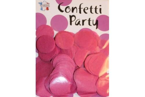 Confettis ronds fuchsia
