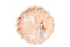 Assiette princesse magique Meri Meri