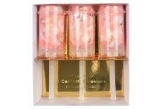 3 lanceurs de confetti roses